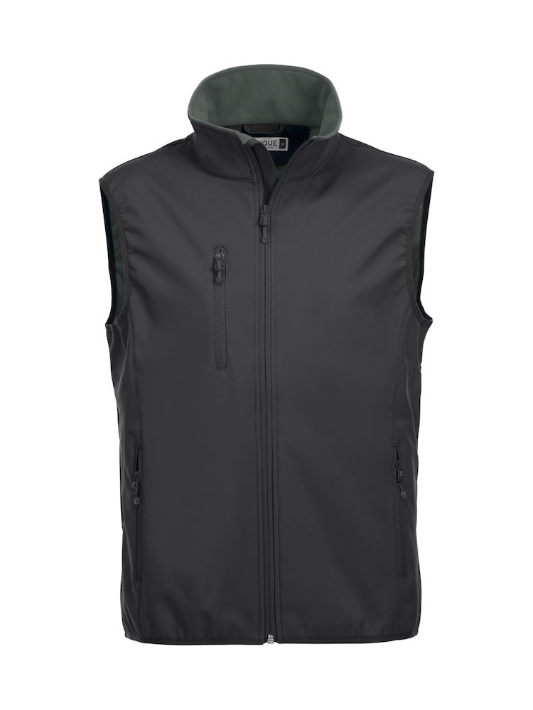 Clique - Gilet basic softshell vest - men - Black