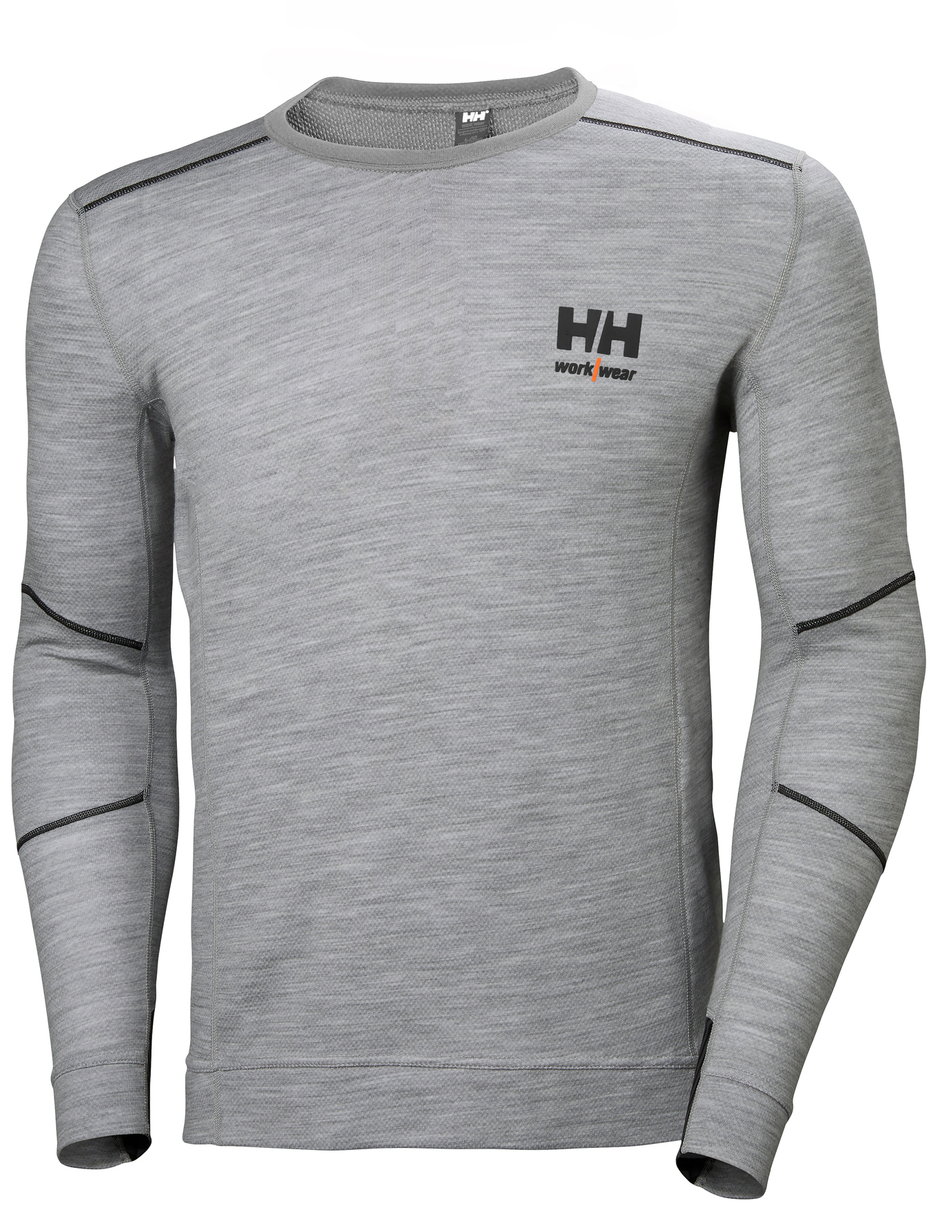 Helly Hansen Work W - Lifa Merino Crew Neck - Melange Grey