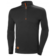 Helly Hansen Work W - Lifa Max Half Zip - Black