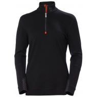 Helly Hansen Work W - Lifa Merino Half Zip - Womens - Black