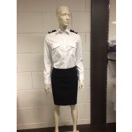 Officers shirt long sleeve with epaulettes support woman