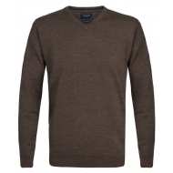 Profuomo - Pullover V - Neck - brown