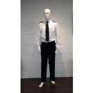 Officers shirt long sleeve with epaulettes support